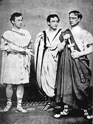The brothers Booth in 'Julius Caesar'